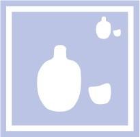ボディペイント用抜き型シール(ステンシル)/「とっくり」10枚入