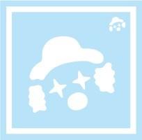 ボディペイント用抜き型シール(ステンシル)/「ピエロ」10枚入