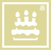 ボディペイント用抜き型シール(ステンシル)/「バースデーケーキ」10枚入