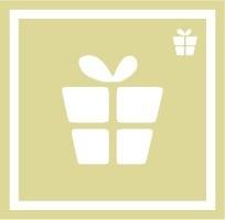 ボディペイント用抜き型シール(ステンシル)/「プレゼント」10枚入