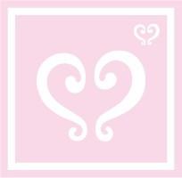 ボディペイント用抜き型シール(ステンシル)/「プリンセスハート」10枚入