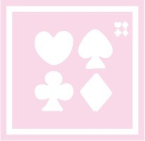 ボディペイント用抜き型シール(ステンシル)/「トランプ」10枚入