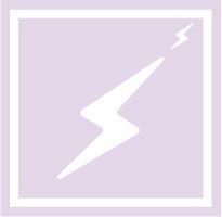 ボディペイント用抜き型シール(ステンシル)/「稲妻」10枚入