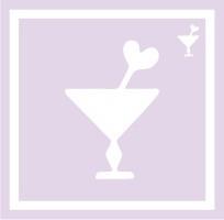 ボディペイント用抜き型シール(ステンシル)/「カクテル」10枚入