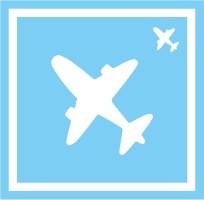 ボディペイント用抜き型シール(ステンシル)/「飛行機」10枚入