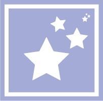 ボディペイント用抜き型シール(ステンシル)/「スター」10枚入