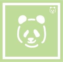 ボディペイント用抜き型シール(ステンシル)/「パンダ」10枚入