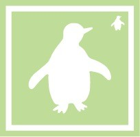 ボディペイント用抜き型シール(ステンシル)/「ペンギン」10枚入