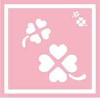 ボディペイント用抜き型シール(ステンシル)/「クローバー」10枚入