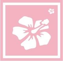 ボディペイント用抜き型シール(ステンシル)/「ハイビスカス」10枚入