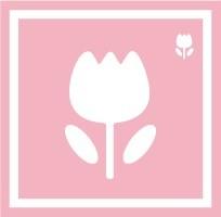 ボディペイント用抜き型シール(ステンシル)/「チューリップ」10枚入