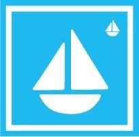 ボディペイント用抜き型シール(ステンシル)/「ヨット」10枚入