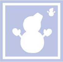 ボディペイント用抜き型シール(ステンシル)/「雪だるま」10枚入