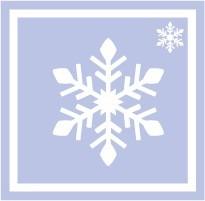ボディペイント用抜き型シール(ステンシル)/「雪の結晶」10枚入