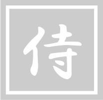 ボディペイント用抜き型シール(ステンシル)/「侍」10枚入