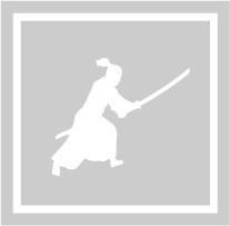 ボディペイント用抜き型シール(ステンシル)/「武士」10枚入