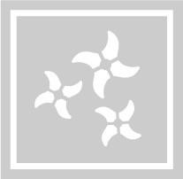 ボディペイント用抜き型シール(ステンシル)/「手裏剣」10枚入