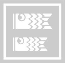 フェイスペイント用抜き型シール(ステンシル)/「こいのぼり」10枚入