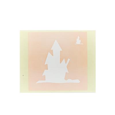 ボディペイント用抜き型シール(ステンシル)/「ホラーハウス」10枚入