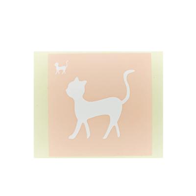 ボディペイント用抜き型シール(ステンシル)/「ネコ」10枚入