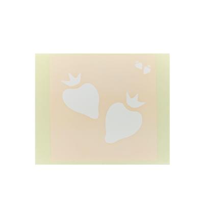 ボディペイント用抜き型シール(ステンシル)/「いちご」10枚入