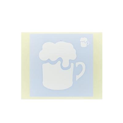 ボディペイント用抜き型シール(ステンシル)/「ビールジョッキ」10枚入