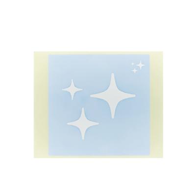 ボディペイント用抜き型シール(ステンシル)/「キラキラ」10枚入