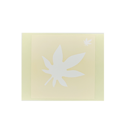 ボディペイント用抜き型シール(ステンシル)/「もみじ」10枚入
