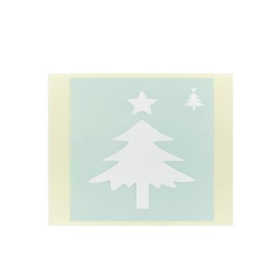 ボディペイント用抜き型シール(ステンシル)/「クリスマスツリー」10枚入