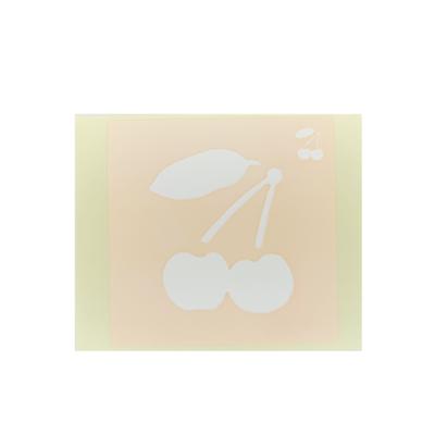 ボディペイント用抜き型シール(ステンシル)/「さくらんぼ」10枚入