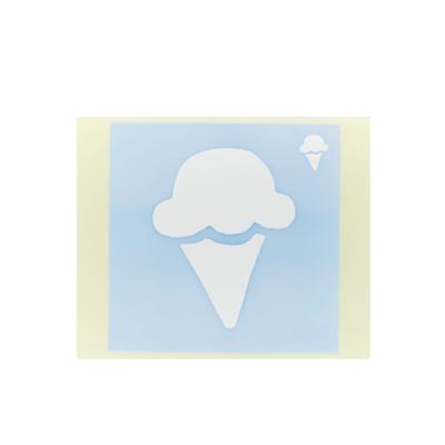 ボディペイント用抜き型シール(ステンシル)/「アイス」10枚入