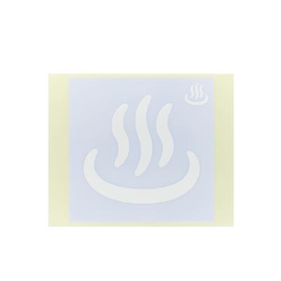 ボディペイント用抜き型シール(ステンシル)/「温泉マーク」10枚入