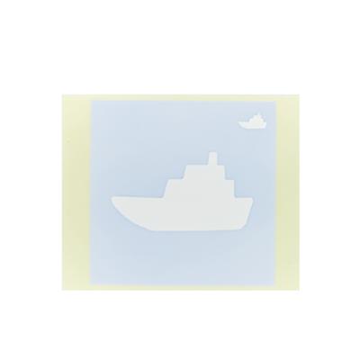ボディペイント用抜き型シール(ステンシル)/「船」10枚入
