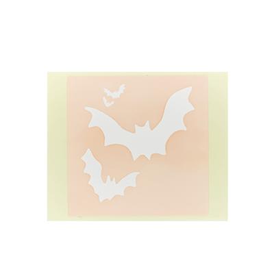 ボディペイント用抜き型シール(ステンシル)/「コウモリ」10枚入