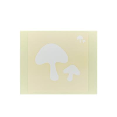 ボディペイント用抜き型シール(ステンシル)/「きのこ」10枚入