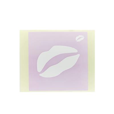 ボディペイント用抜き型シール(ステンシル)/「くちびる」10枚入