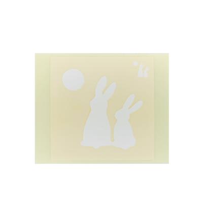 ボディペイント用抜き型シール(ステンシル)/「月見うさぎ」10枚入