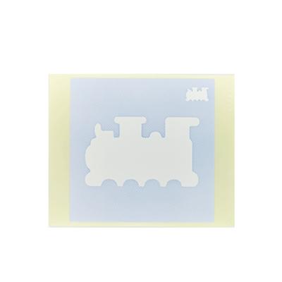 ボディペイント用抜き型シール(ステンシル)/「機関車」10枚入
