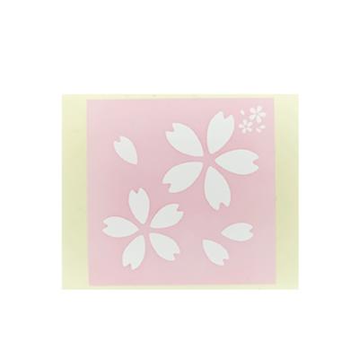 ボディペイント用抜き型シール(ステンシル)/「サクラ」10枚入
