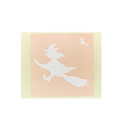 ボディペイント用抜き型シール(ステンシル)/「魔女」10枚入