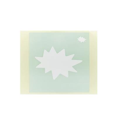 ボディペイント用抜き型シール(ステンシル)/「ギザギザふきだし」10枚入