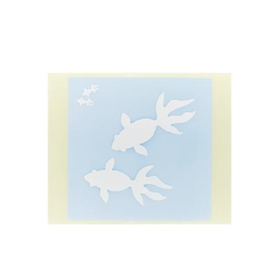 ボディペイント用抜き型シール(ステンシル)/「金魚」10枚入