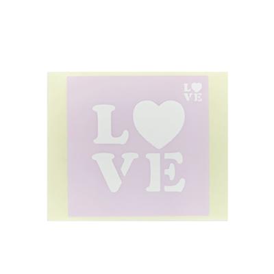 ボディペイント用抜き型シール(ステンシル)/「LOVE」10枚入