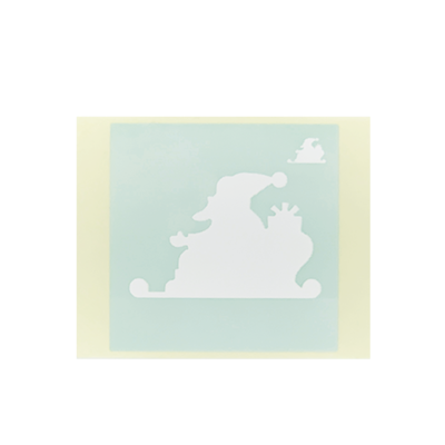 ボディペイント用抜き型シール(ステンシル)/「メリークリスマス」10枚入